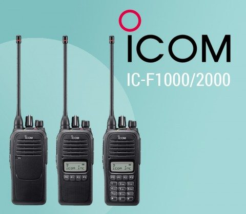Icom has launched six new two way radios: the IC-F1000 and IC-F2000 series. featured image