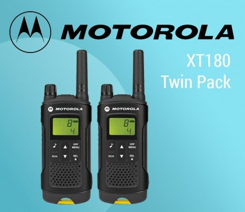 Motorola XT180 Twin Pack –  the convenience of two way radios with the professional features you need to keep in touch featured image