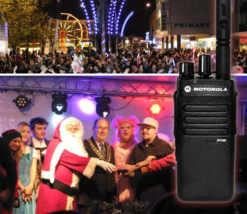 Motorola Handheld Radios Lend Hand at Basildon Festive Switch On featured image