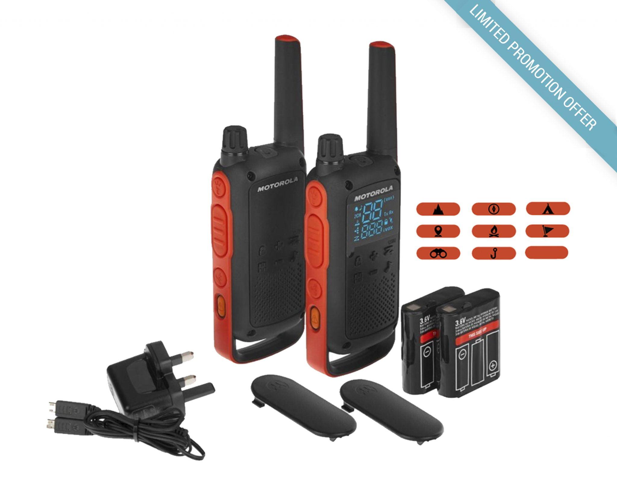 Motorola TALKABOUT Radios T82, Twin - Brentwood Communications