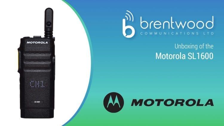 Motorola SL1600 Two Way Radio Unboxing featured image