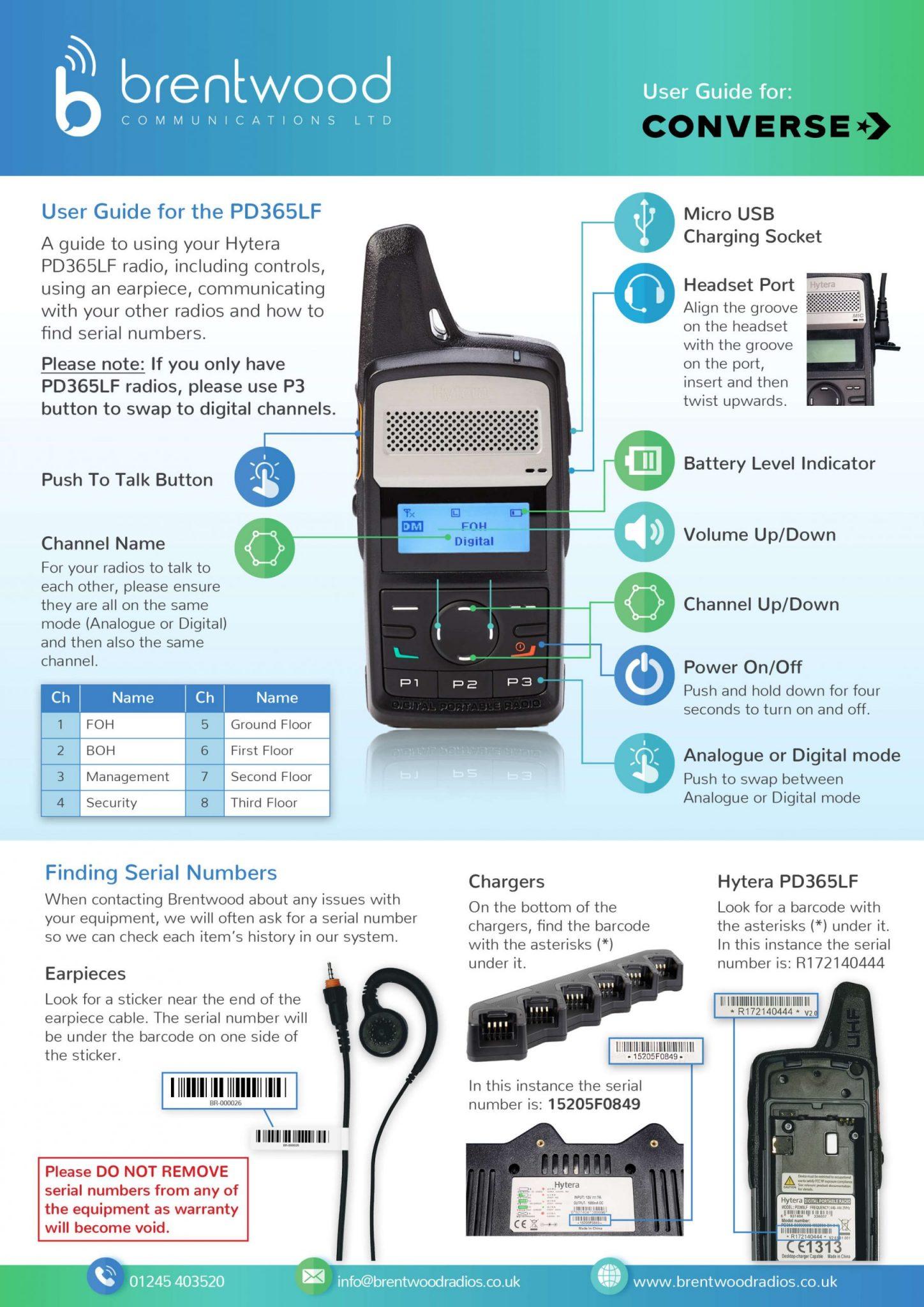 <p>PD365LF<br /> User Guide</p>